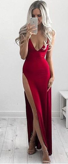 #summer #australian #label #outfits   Red Silk Gown