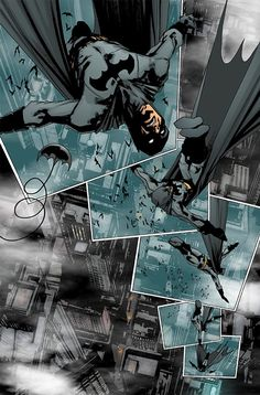 Dick Grayson as Batman in the 'Black Mirror'. Beautiful layout and panels by Jock