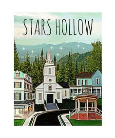 Stars Hollow Print | Before you return to Stars Hollow on November 25, stock up on these shirts, prints, mugs, and more—all made for Gilmore Girls devotees. Oy with the merch already!