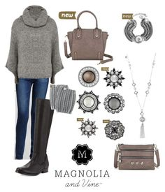 """""""Magnolia and Vine Fall Casual Grey"""" by magnoliaandvine ❤ liked on Polyvore featuring AG Adriano Goldschmied, CC, Frye, women's clothing, women, female, woman, misses and juniors"""