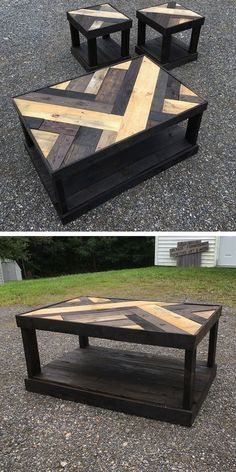 Best Wooden Pallet Furniture Projects Ideas And Tutorials – Sensod – Create. wooden pallet table with small stool palpable Do It Yourself Custom-made Wood Pallet Furniture Suggestions · recycled pallet coffee table. Do It Yourself Wood Pallet Coffee Wooden Pallet Table, Wooden Pallet Furniture, Wooden Pallets, Wooden Diy, Furniture Ideas, Pallet Wood, Pallet Bench, Garden Furniture, Palette Furniture