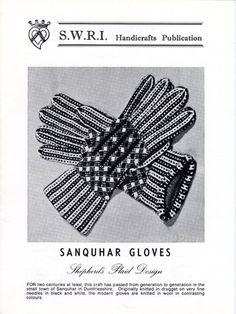 Gants Sanquhar, Shepherd's Plaid design tricot