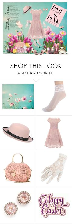 """""""Pretty in Pink"""" by izimaher ❤ liked on Polyvore featuring Pilot, Chi Chi, G.H. Bass & Co., Chanel, Black and Dana Rebecca Designs"""