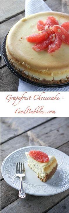 Grapefruit Cheesecake - http://FoodBabbles.com