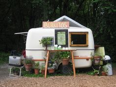 Make your dreams come true...just start small.  This little food trailer attracts students and foodies from all around!