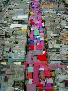 Mexican Street Market (Aerial View)