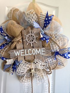 Welcome wreath! Nautical style