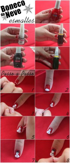 Unhas de Natal | Christmas Nails