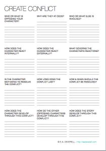 3-page writing worksheet to help you create, compound and resolve conflicts in your stories. > http://eadeverell.com/writing-worksheet-wednesday-conflict/?utm_content=buffera8518&utm_medium=social&utm_source=pinterest.com&utm_campaign=buffer