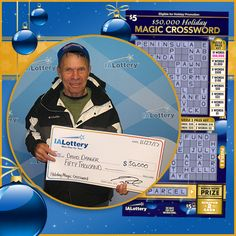 Congratulations to David Danger of #Radcliffe. He purchased a $50,000 Holiday Magic Crossword scratch ticket at Yesway, 527 Park Ave. in #StoryCity and won a $50,000 top prize! #WooHooForYou