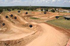 Post a pic of Your MX or backyard track Dirt Bike Track, Rc Track, Bmx Dirt, Dirt Biking, Monster Energy Gear, Motocross Tracks, Atv Motocross, Jump Park, Skateboard Room