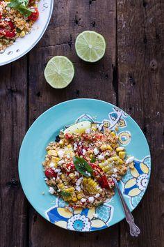 Summer Grilled Mexican Street Corn Quinoa Salad | halfbakedharvest.com