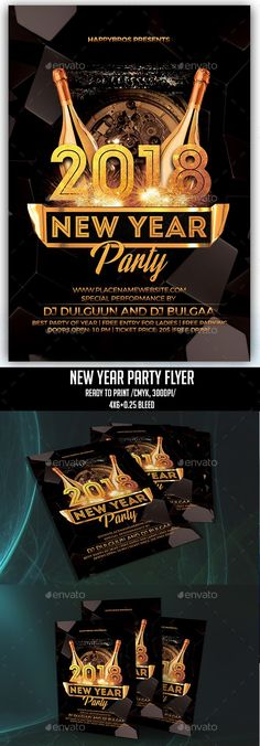 Happy New Year  Flyer  Event Flyers Party Flyer And Fonts