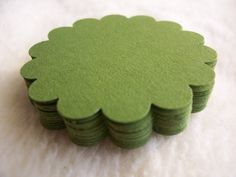 Items similar to Round Scallop Piece Set of Very Pretty Olive Green Round Scallop Scrapbook Tags on Etsy Handmade Tags, Olive Green Color, Homemade Cards, Mini Albums, Gift Tags, Cake Toppers, Party Favors, My Etsy Shop, Paper Crafts