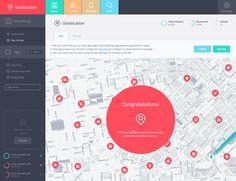 App geolocation screen by Jawad Š