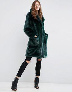 ASOS | ASOS Coat in Plush Faux Fur at ASOS