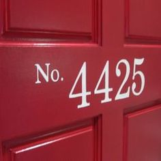 painted numbers on door