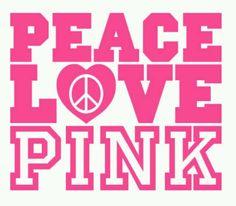 Vs love pink peace!!!