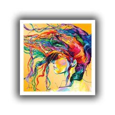 ArtWall Linzi Lynn 'Windswept' Unwrapped Canvas (28 x 28), Yellow