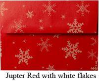 Red Metallic Snowflake Envelope