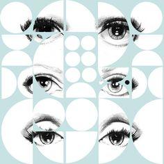MTG Wallpaper Eyes and Circles Sky Blue WP20086