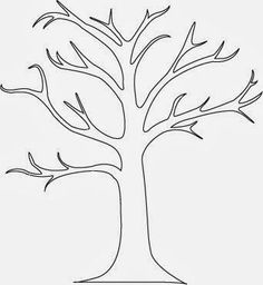 How to create a tree mural A beautiful tree mural with very little painting required. You can create a tree mural design using the concept from my previous post. Find yourself a tree shape outline. There are loads to be f… Tree Outline, Tree Templates, Templates Free, Printable Templates, Design Templates, Free Printable, Tree Shapes, Scroll Saw, Autumn Trees