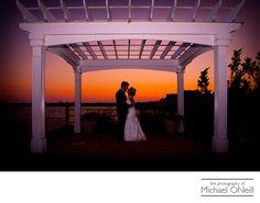Michael ONeill Wedding Portrait Fine Art Photographer Long Island New York - Lombardi's on the Bay Wedding Sunset Picture: