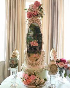 42 Eye-Catching Unique Wedding Cakes Wedding party In advance Extravagant Wedding Cakes, Unique Wedding Cakes, Unique Cakes, Elegant Cakes, Beautiful Wedding Cakes, Beautiful Cakes, Unique Weddings, Amazing Cakes, Cupcakes