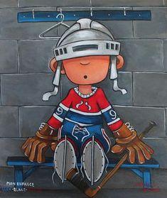 canadiens Hockey Drawing, Hockey Decor, Hockey Birthday, Sports Painting, Kids Canvas Art, Naive Art, Sports Art, Tole Painting, Batman