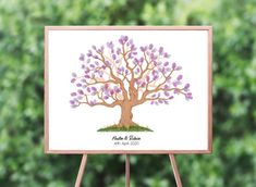 Instant Download Fingerprint Tree Newton wedding thumbprint   Etsy Wedding Fingerprint Tree, Fingerprint Art, Bridal Shower Decorations, Birthday Party Decorations, Presentation Pictures, Gift Drawing, Ink Color, Party Gifts, Place Card Holders
