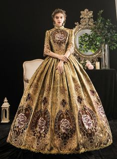 Vintage Gowns, Vintage Style Dresses, Vintage Outfits, Vintage Fashion, Stunning Dresses, Pretty Dresses, Victorian Ball Gowns, Masquerade Ball Gowns, Blue Ball Gowns
