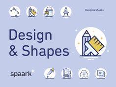 Freebie: 25 Design & Shapes Icons by PixelBuddha