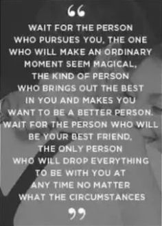 Wait for the person ...