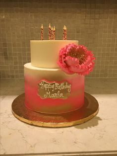 Beautiful Birthday cake. #fancycakes #beautifulcakes #cakes #birthdaycakes #happybirthday