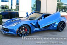 Shop this Stylish ZLR doors kit for your Chevrolet Corvette C7 with the most compatible Auto parts by Vertical Doors Order Now, Visit at http://www.verticaldoors.com/chevrolet-corvette-c7-2014-zlr-door-conversion-kit.html For Sales and Installation, Call