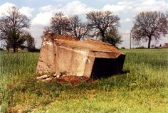 Tobruk type bunker. Bocheniec village, 5 kilometers ( 3 miles) east of Golub-Dobrzyń. I made this photo in spring  ... 1997 ... as I remember.