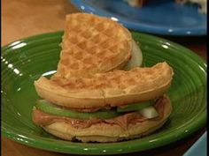 Peanut Butter, Apple and Honey Wafflewich