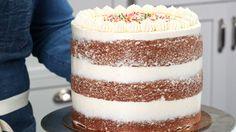 Savory magic cake with roasted peppers and tandoori - Clean Eating Snacks Cake Icing, Cupcake Cakes, Frosting, Cupcakes, Cake Mold, Mini Cakes, Nake Cake, Hummingbird Cake, Homemade Birthday Cakes
