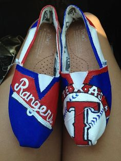 Texas Rangers  Awesome Custom TOMS