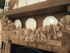 Beautiful natural burlap handmade into a gorgeous full, thick garland. This burlap garland is stunning and the perfect touch for that rustic