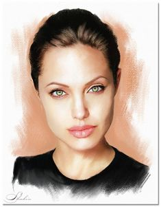 Portrait of Angelina Jolie by shahin on Stars Portraits, the biggest online gallery for celebrity portraits. Celebrity Caricatures, Celebrity Drawings, Celebrity Portraits, Portraits Pop Art, Portrait Art, Portrait Photography, Smoking Celebrities, Photoshop Celebrities, Hollywood Celebrities