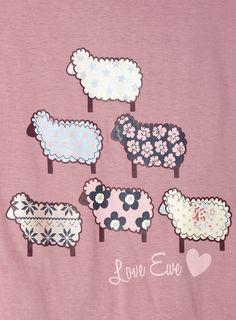"Lilac ""Love Ewe"" Sheep Design PJ Set - pyjamas - nightwear - Women - BHS"