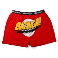 Why settle for those boring whites, when you can geek out to these red boxers with the zestiest zinger of them all – Bazinga! - featured prominently across your pants. The Big Bang Theory Bazinga...