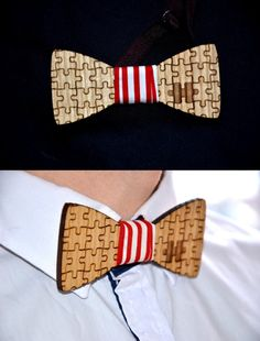 The puzzle is super cute. Wooden bowtie. Wedding party bowtie. Groomsmen bet by EnjoyTheWood