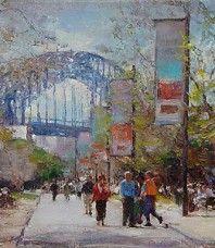 The Promenade, oil by John McCartin