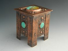 Copper repousse / chased keep sake box w/ by madeinsantafe on Etsy, $525.00