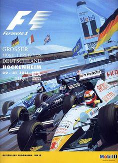 1994-07-31 · Grosser Preis von Deutschland · Hockenheim | formula 1 event artwork · formula 1 programme cover · formula 1 poster · carsten riede Ad Sports, Sports Car Racing, Drag Racing, Race Cars, F1 Racing, Australian Grand Prix, British Grand Prix, F1 Posters, Event Posters