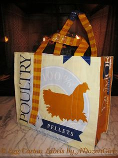 Here are easy-to-follow instructions for making a feed bag tote.