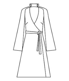 Japanese Wrap Dress - Free PDF to download from www.bernina.com/de (Note: You may need a translator tool for the Bernina website www.bernina.com/... )