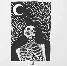 Lost skull under the moon The Skulls, Matt Bailey, Art Sketches, Art Drawings, Skeleton Art, Skull Art, Dark Art, Art Inspo, Tarot